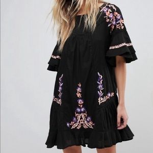 NWT Free People Pavlo Embroidered Dress